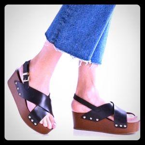 NEW/ NWOT Sam Edelman Bentlee Wedge Women Sandals
